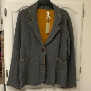 Kristin Miles jacket gray & orange NWT